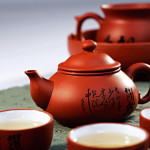 Traditional cups for drinking green tea